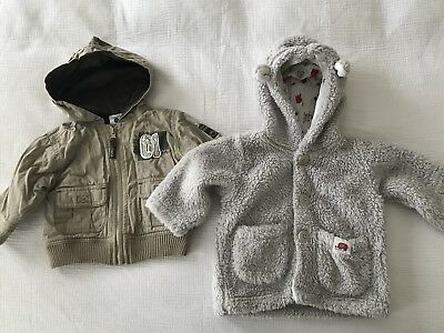 Baby Boy Jackets x 2 - Size 6-12 Months - Great Condition!