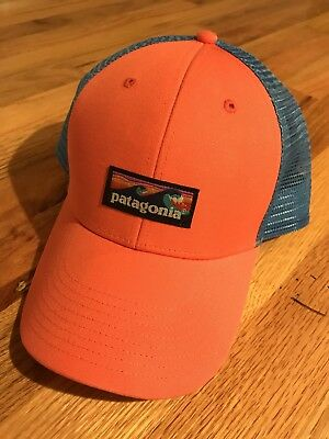 Patagonia Board Short Label LoPro Trucker Hat - Carve Coral Blue