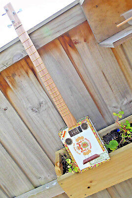 Cigar Box Guitar a 3 string for playing the Blues crafted by Jandyb + FREE POST