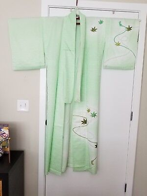 From Japan: Authentic Kimono - Pale Green