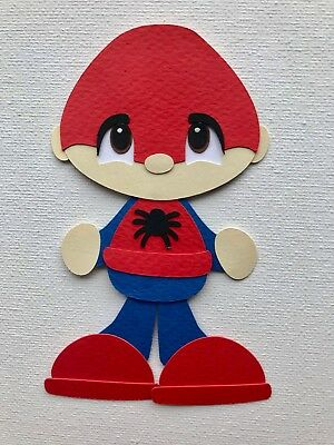 Fully assembled SPIDERMAN BOY paper piecing / die cut