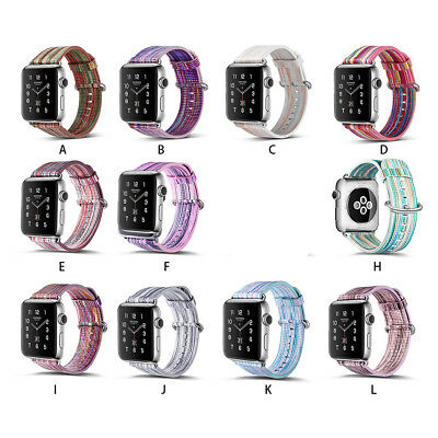 Genuine Leather Multi Colors Strap Wrist Bands for Apple Watch Series 3 2 1 38mm