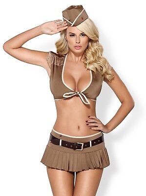 Obsessive - Costumes Sexy - 814-CST-4 soldier costume 5-pcs - Beige