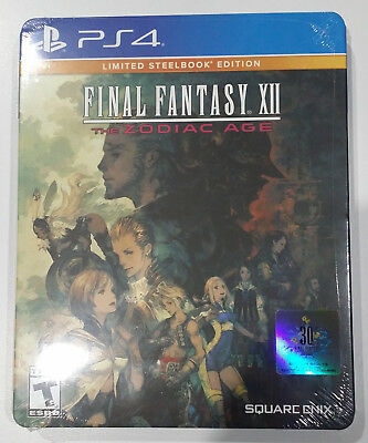 Final Fantasy XII: The Zodiac Age Steelbook Edition -NEW & FACTORY SEALED-