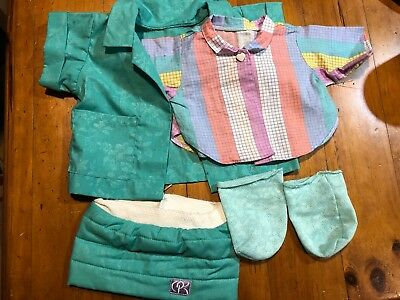 Cabbage Patch Kids - Coleco Cornsilk Outfit - Green And Multicolored
