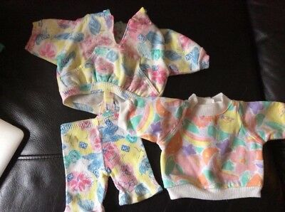 Cabbage Patch Kids - Coleco Cornsilk Clothes - Floral And Multicolored