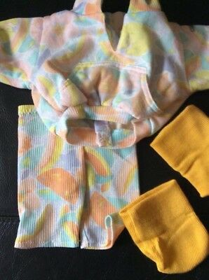 Cabbage Patch Kids - Coleco Cornsilk Clothes - Abstract And Yellow