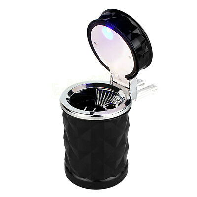 Portable Car Home LED Light Ashtray Auto Travel Cigarette Ash Holder Cup Black