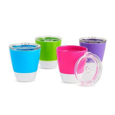 Munchkin Splash 4 Piece Toddler Cups with Training Lids, 7 Ounce