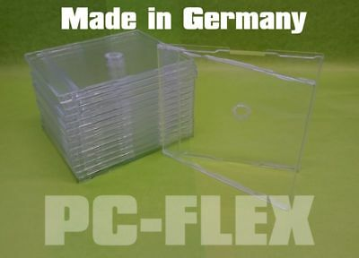 10/20/30 Slim Case CD Hüllen (Maxi CD) 7mm Klar/Transparent für 1 CD Top Quali!