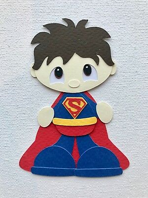 SUPERMAN - fully assembled die cut / paper piecing