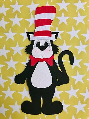 Cat in the Hat - fully assembled die cut / paper piecing
