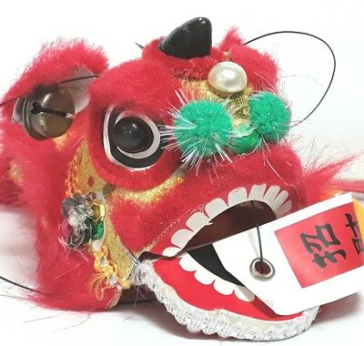 Chinese Dragon puppet plush toy Marionette Red