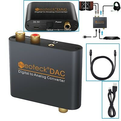 Digitale ad analogico Audio convertitore adattatore 3.5mm Jack RCA ottico