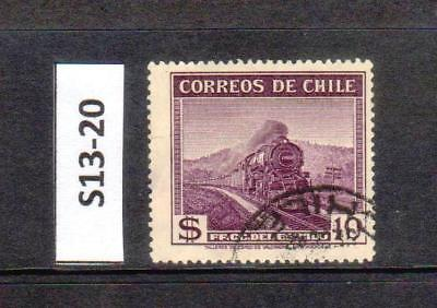 Chile - Stamp From An Old Collection (S13-20)