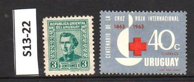 Uruguay - Stamps From An Old Collection (S13-22)