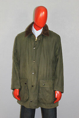 Mens Barbour Border Waxed  Jacket and Vest Lining 2 in 1 Green Size C46/117 CM