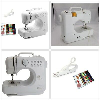 Portable Mini Desktop Electric Sewing Machine Hand Held Household LS-505 Combo