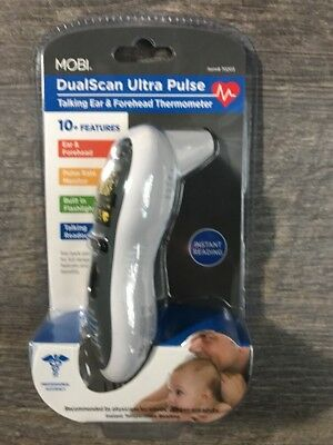 NEW MOBI Ultra Pulse Ear & Forehead Talking Digital Thermometer w/ Pulse Rate