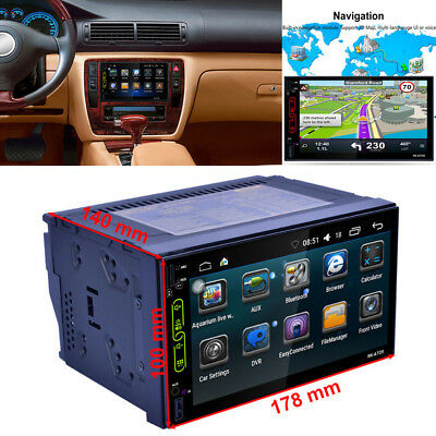 "7"" TFT Touch Screen 2DIN Car Radio AM FM MP5 Player GPS Android Bluetooth WIFI"