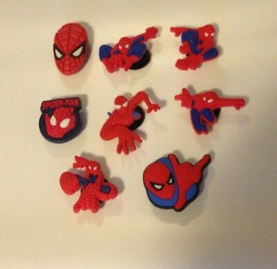 Spiderman Shoe Jibbitz/Charms Set Of 8...US seller