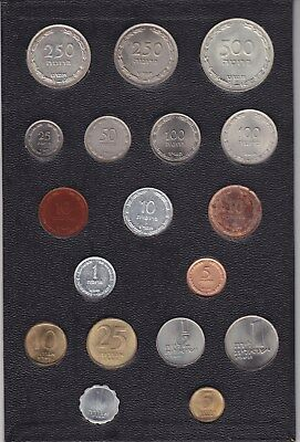Isreali Coin Set 16 Coins In Uncirculated Mint State Set In Black Sleave ?????