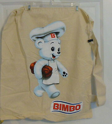 Bimbo Bread Bakery Draw String Shoulder Bag New