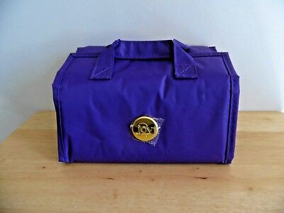 Joy Mangano Better Beauty Purple Jewelry Make Up Organizer Roll-up Travel Case