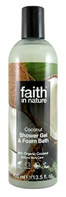 Faith in Nature Shower Gel and Foam Bath, Coconut