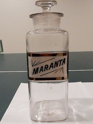 ANTIQUE 1889 W.T.CO. LARGE APOTHECARY (Pharmacy) BOTTLE