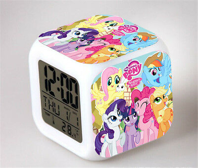 My Little Pony 7 Color Change Alarm Clock LED Digital Glowing Night Light
