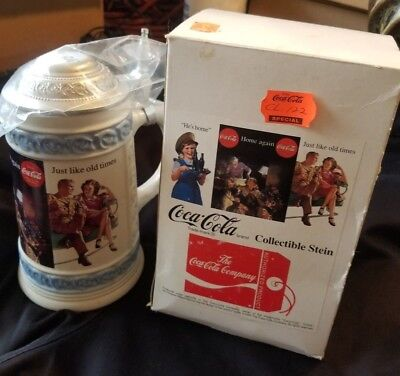 """Coca Cola Collectible Stein 1995 """"Just Like Old Times"""""""