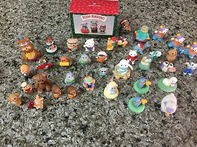 Hallmark Merry Miniatures Animals & Figures Holiday Easter Christmas Lot of 41