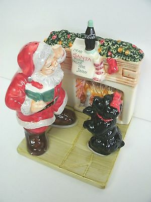Coca-Cola Salt And Pepper Shakers Holiday Portraits With Box!