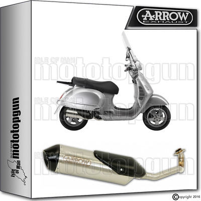 Arrow Hom Full Exhaust Slip-On Reflex-2 Ec Black Piaggio Vespa Gt 200 2004 04