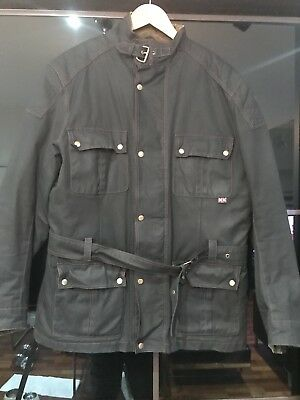 Germot Oxford Wax Motorcycle Jacket XL With Forcefield armour.