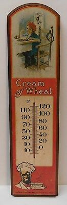 Cream of Wheat Indoor Wood Thermometer Vintage