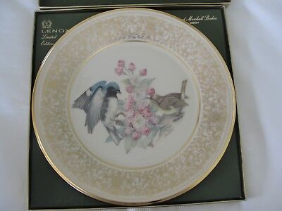 Lenox Annual Limited Edt. Boehm Bird Plates - 1980 Black Throated Blue Warbler