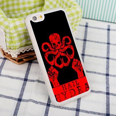Hail HYDRA Marvel Comics Red Skull Rubber Case Cover For iPhone 6/6s 7 8 X Plus