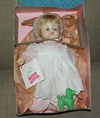 """14"""" 1961 Madame Alexander's Baby McGuffey Doll in Box with Hand Tag"""