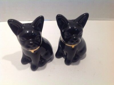 Black French Bulldog Salt & Pepper Shakers