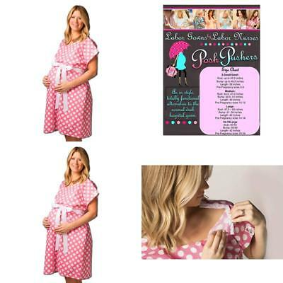 552b7cd6dd0 Posh Pushers Maternity Hospital Gown-Pretty Designer Labor And Delivery Gown  -