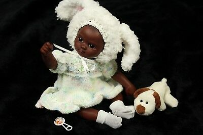 Beach Babies OOAK(One Of A Kind) Hand Sculpted Clay Baby Doll AA Ethnic