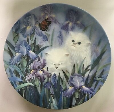 Petal Pals 'Garden Discovery' 1992 Lily Chang Kittens Cats Bradford Plate
