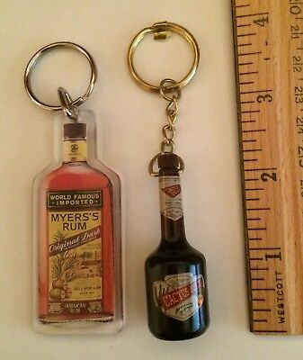 Collectible Keychain Rings Bundle: DeKuyper Cactus Juice Schnapps & Myers's Rum