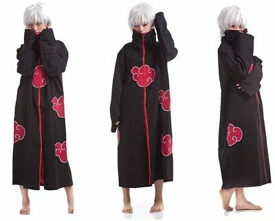 NARUTO Cosplay Costume Akatsuki Ninja Wind Uniform Cloak Anime Halloween XL