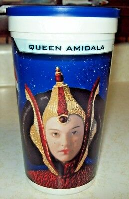 Pepsi Cola Plastic Glass Star Wars Queen Amidala Episode 1