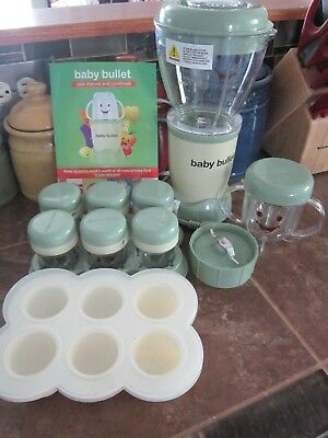 Baby Bullet Blender Food System Complete Set~~w/ Storage Containers ~~EUC~~