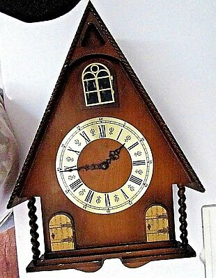 Vintage LINDEN GERMANY 8 Days Cuckoo Clock 507 For PARTS ONLY