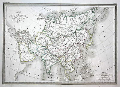1837 Asie Asia Asien China India Indien Thailand Thaïlande map Karte carte